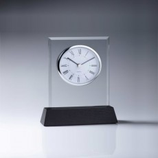Clock Glass on Timber Base