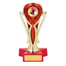 Ballroom Dancing Trophy, Red & Gold Cup