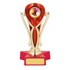Ballroom Dancing Trophy, Red & Gold Cup