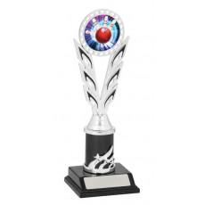 Tenpin Bowling Trophy, Silver & Black