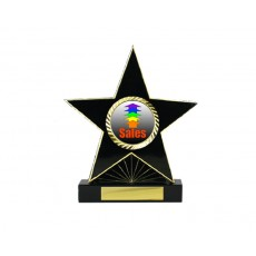 "83. 1"" Holder, Black Star Trophy"