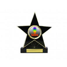 """83. 1"""" Holder, Black Star Trophy"""