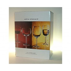 06. Circleware Red & White Wine Set, 12 Piece
