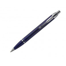 06. Parker 'IM' Blue, Chrome Trim Ball Point Pen