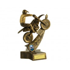 16. Large MotorCross & Stars Resin Trophy