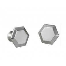 09. Royal Selangor Pewter Hexagon Cufflinks