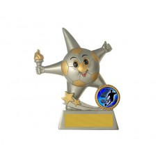 81. Football  Smiley Resin Trophy