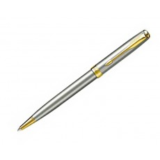 18. Parker 'New Sonnet' Stainless Steel, Gold Trim Pen
