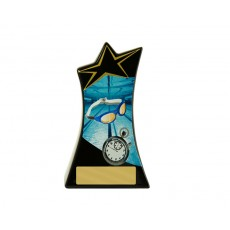 05. Large Swimming Shooting Stars Resin Trophy