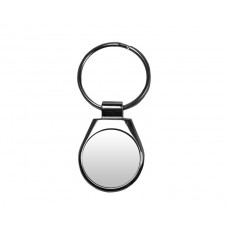 Shiny Stainless Steel Round Keyring