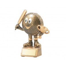 60. Cricket Ball Character Resin Trophy