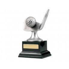 Golf Ball & Club on Black Base