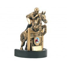 34. Equestrian Horse & Rider Resin Trophy