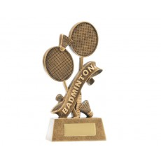 01. Medium Badminton Resin Trophy