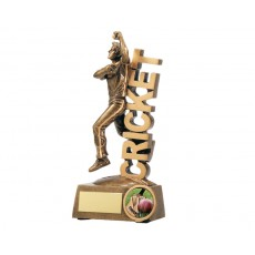 Cricket Bowler on Word Resin Trophy