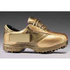 20. Gold Golf Mini Boot Resin Trophy