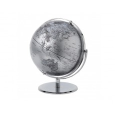 14. Globe Collection 30cm Silver Globe
