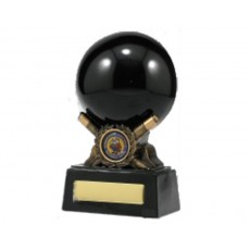 07. Large Snooker Ball & Cues Trophy