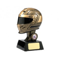 Helmet Motor Racing Trophy