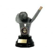 34. Golf Iron & Ball Resin Trophy