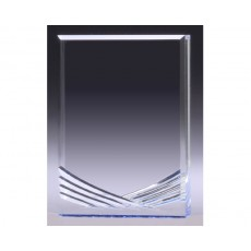 Acrylic , Clear Carved with Blue Reflection