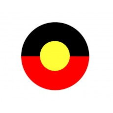Australia - Aboriginal Flag Acrylic Button