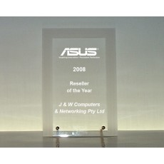 Acrylic Award - Sample Laser Etching