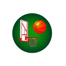 Basketball Acrylic Button
