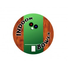 Indoor Bowls Acrylic Button