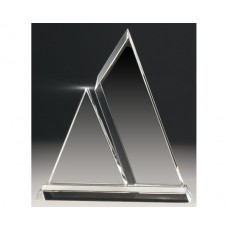 A120. Clear Crystal Double Peak Award