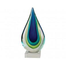 01. Coloured Glass Blue Green Inspire