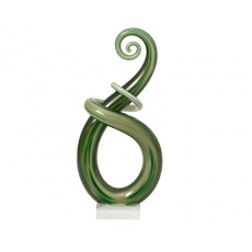 28. Coloured Glass 'Jade' Sculptured Award