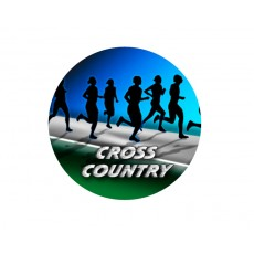 Cross Country Acrylic Button