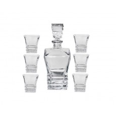"Glass ""Arc"" Whisky Set, 7 Piece"