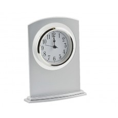Frosted Silver Mantel Clock