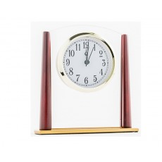 10. Glass & Wooden Clock