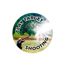 Clay Target Shooting Acrylic Button
