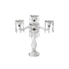 01. Crystal 'Mozart' 5 Arm with Drops Candelabra