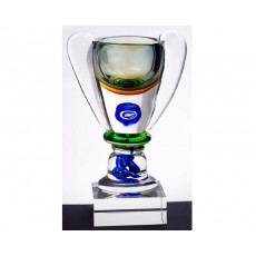 Coloured Glass Azzurra Trophy Cup