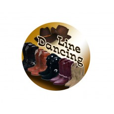 Dance - Line Dancing Acrylic Button