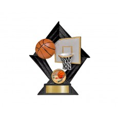 Basketball Diamond Resin Trophy