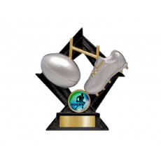 13. Medium Rugby League Diamond Resin Trophy