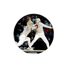 Fencing Acrylic Button