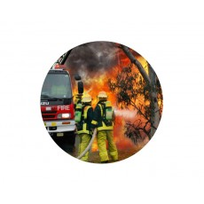 Fireman Acrylic Button