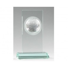 01. Rectangle Jade Glass Golf Award