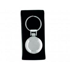 Silver Circular Keyring