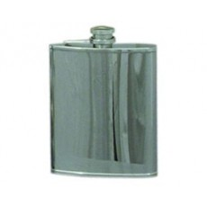 03. Hip Flask Plain, 6oz