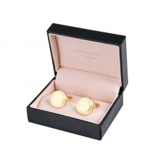 04. Jos Von Arx Gold Cufflinks with Circles