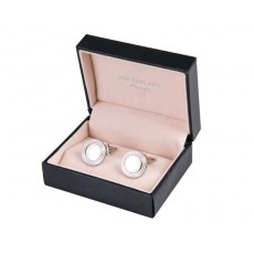 05. Jos Von Arx Silver Cufflinks with Circles