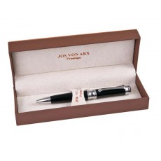 01. Jos Von Arx Ball Point Pen, Black with Silver Trim